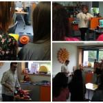Montagem de várias fotografias dos alunos do curso de Serviço Social e Educação Social no Centro de Recursos para a Inclusão Digital